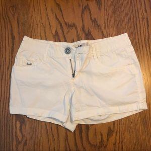 Jolt White Shorts